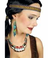 Carnavalskleding indianen halsketting vrouwen helmond