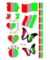 Carnavalskleding italiaanse supporters tattoos helmond