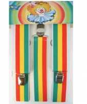 Carnavalskleding jamaicaanse gekleurde bretels helmond