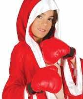Carnavalskleding kinder bokshandschoenen rood helmond
