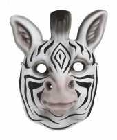 Carnavalskleding kindermasker zebra helmond