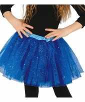 Carnavalskleding kobalt blauwe verkleed petticoat meisjes helmond