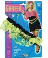 Carnavalskleding kouseband dames neon groen helmond