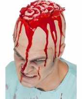 Carnavalskleding latex kap hersenen helmond