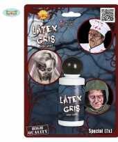 Carnavalskleding latex look horror schmink grijs helmond