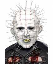 Carnavalskleding latex pinhead masker volwassenen helmond
