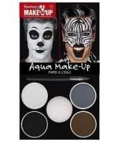 Carnavalskleding make up set dieren zebra helmond