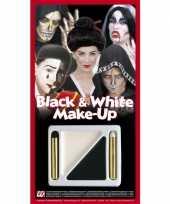 Carnavalskleding make up setje zwart wit helmond
