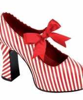 Carnavalskleding mary jane rood witte pumps helmond