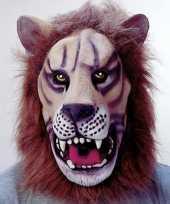 Carnavalskleding masker een leeuw helmond