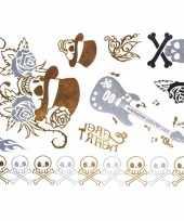 Carnavalskleding metallic tattoos rock helmond