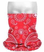 Carnavalskleding morph sjaal boeren zakdoekprint helmond