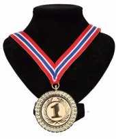 Carnavalskleding noorwegen medaille nr halslint rood wit blauw helmond