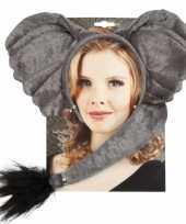 Carnavalskleding olifant verkleed setje volwassenen helmond