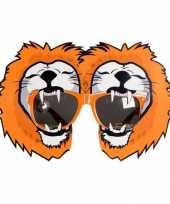 Carnavalskleding oranje leeuwen bril helmond