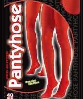 Carnavalskleding panty glitters rood denier helmond