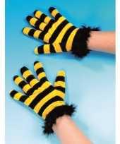 Carnavalskleding party handschoenen bijen helmond