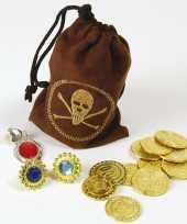 Carnavalskleding piraat accessoire goudstukken helmond