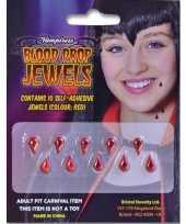 Carnavalskleding plak juwelen bloeddruppels stuks halloween helmond