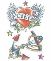 Carnavalskleding plak tatoeage zeemans thema helmond