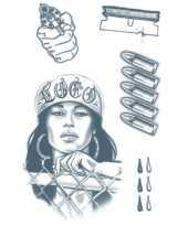 Carnavalskleding plak tatoeages gevangene helmond