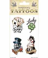 Carnavalskleding plak tatoeages traditioneel thema helmond
