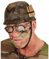 Carnavalskleding plastic soldaten helm kogels helmond