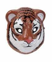 Carnavalskleding plastic tijger masker d cm helmond