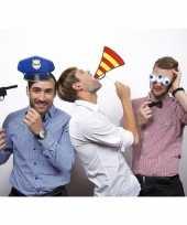 Carnavalskleding politie foto accessoires stokje helmond