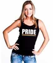 Carnavalskleding pride mouwloos shirt zwart regenboog vlag dames helmond