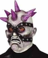 Carnavalskleding punk zombie monster masker latex helmond