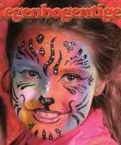 Carnavalskleding regenboog tijger schminken schminkset helmond