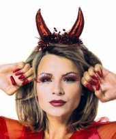 Carnavalskleding rode duivel tiara helmond