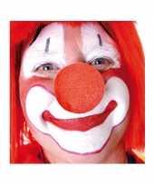 Carnavalskleding rode opzet clownsneus foam helmond