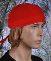Carnavalskleding rood gekleurde bandana uni helmond