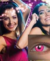 Carnavalskleding roze uv funlenzen helmond