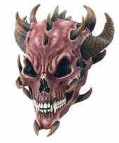 Carnavalskleding rubberen masker duivel helmond