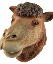 Carnavalskleding rubberen masker kameel helmond