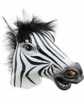 Carnavalskleding rubberen masker zebra helmond