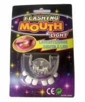 Carnavalskleding scheve tanden gebitje led verlichting helmond