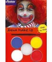Carnavalskleding schmink set clowns helmond