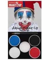Carnavalskleding schmink set horror clown kleuren helmond