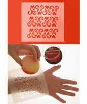 Carnavalskleding schmink sjabloon uw lichaam ornament hart helmond