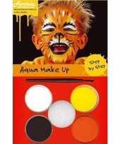 Carnavalskleding schminksetje tijger helmond
