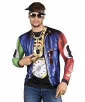 Carnavalskleding shirt rapper jasje opdruk helmond