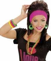 Carnavalskleding sixties armbandjes neon gekleurd stuks helmond