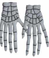 Carnavalskleding skelet handschoenen bones helmond