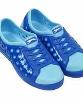 Carnavalskleding slazenger dames waterschoen kobalt lichtblauw helmond
