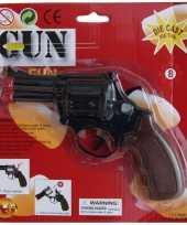 Carnavalskleding speelgoed politie pistool zwart helmond