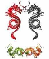 Carnavalskleding stickers chinees xxl tattoo helmond